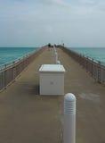 Bridge to the ocean Royalty Free Stock Photo