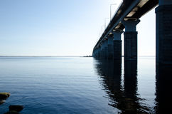 Bridge to Oland, Sweden Royalty Free Stock Images