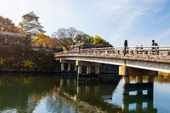 Bridge to Osaka Castle at fall Royalty Free Stock Photography
