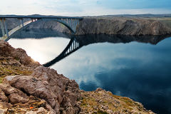 Bridge to the Pag island, Croatia Stock Image