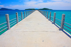 Bridge to Paradise. A bridge to paradise at Rawai Beach, Phuket, Thailand Stock Image