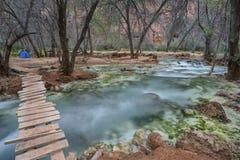 Bridge to paradise, Havasu Falls, Grand Canyon, Arizona Stock Image