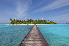 Bridge to paradise island Stock Photography