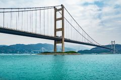 Bridge to Park island at day time. royalty free stock image