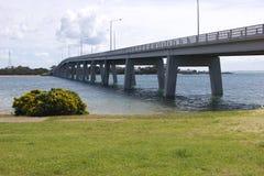 Bridge to Phillip Island. The bridge leading across the sea to Phillip Island in Australia stock photography