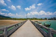 Bridge to pier Stock Photo