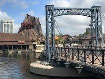 Bridge to RainForest Cafe at Disney Springs Royalty Free Stock Image