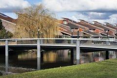 Bridge to residential district Royalty Free Stock Photos
