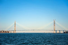 Bridge to Russian Island Royalty Free Stock Images
