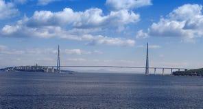 Bridge to Russian Island, Royalty Free Stock Image