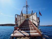 Bridge to sailing ship. In Malta Stock Image