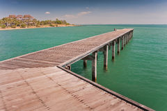 Bridge in to the sea Royalty Free Stock Images