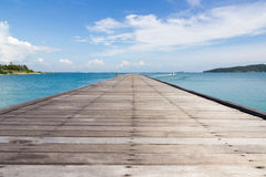 Bridge in to the sea. Kao Laem Ya-Moo Koh Samed National Park ,Thailand Royalty Free Stock Images