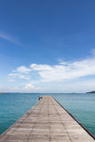 Bridge in to the sea. Laem Ya Pier at Kao Laem Ya-Moo Koh Samed National Park ,Thailand Stock Photography