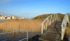 Bridge to sea island Royalty Free Stock Image