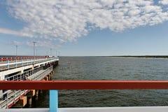 Bridge to the sea. Royalty Free Stock Photos