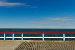 Bridge to the sea. Stock Photo
