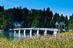 Bridge to Seurasaari Stock Images