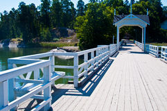 Bridge to Seurasaari Royalty Free Stock Image