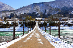 Bridge to Shirakawago Royalty Free Stock Photos