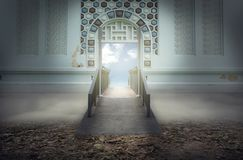 The bridge to sky heaven or holiday. royalty free stock image
