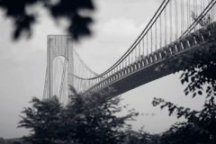 Bridge to somewhere new. Bridge to NY royalty free stock image