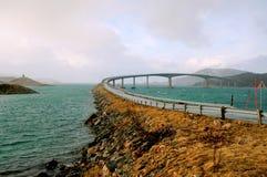 Bridge to the Sommaroy island, Norway Royalty Free Stock Photos