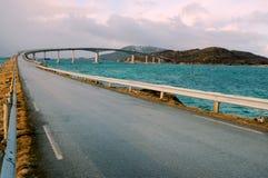 Bridge to the Sommaroy island, Norway Royalty Free Stock Image