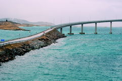 Bridge to the Sommaroy island, Norway Royalty Free Stock Images