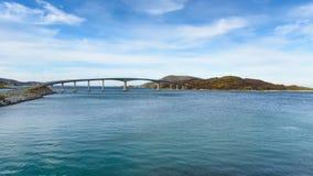 Sommaroy Bridge, Tromso, Norway. Bridge to the Sommaroy island, Tromso, Norway, Scandinavia royalty free stock photos