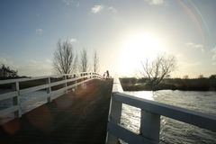 Bridge to the sun. One of the pictures i made with my bike just from home Royalty Free Stock Photos