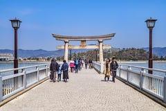 Bridge to Takeshima, Gamagori, Japan royalty free stock photos