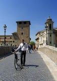 Bridge to Tiber island Stock Images