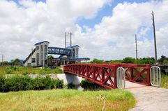 Bridge to train station complex in FL Royalty Free Stock Photo