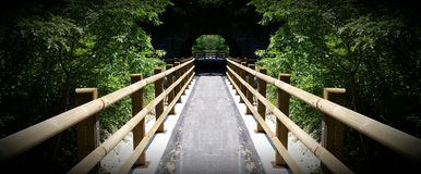 Bridge to the tunnel Stock Photography