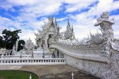 Bridge to Wat Rong Khun. Royalty Free Stock Images