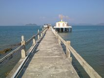 Bridge to water poganda. Pa Yam island,Ranong,Thailand Stock Photos