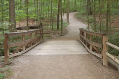 Bridge to woods Royalty Free Stock Photography