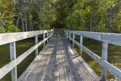 Bridge To Woods Stock Photo