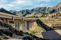 Bridge to the Xixona/Jijona town Royalty Free Stock Photos