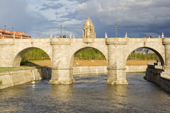 Bridge of Toledo. View of the bridge of Toledo, in Madrid, Spain Royalty Free Stock Photos