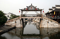 Bridge in Tongli China. An ancient bridge over the canal in Tongli China Royalty Free Stock Image