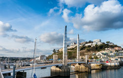 Bridge at Torquay Inner Harbour Royalty Free Stock Photo