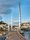 Bridge at Torquay Inner Harbour Royalty Free Stock Photos