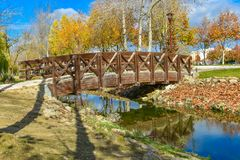 Bridge in Torres Vedras, Portugal. Beautiful bridge over a small watercourse in Torres Vedras, Portugal Stock Image