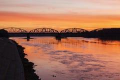 Bridge in Torun. Torun, Kuyavian-Pomeranian, Poland stock photography