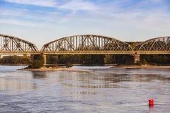 Bridge in Torun. In the morning. Torun, Kuyavian-Pomeranian, Poland Royalty Free Stock Photography
