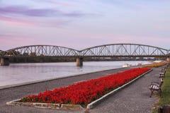 Bridge in Torun. Bridge on Vistula River in Torun. Torun, Kuyavian-Pomeranian, Poland Stock Photography