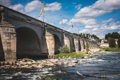 Bridge of Tours. Beautiful bridge in the city of Tours Royalty Free Stock Photo