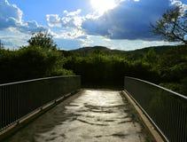 Bridge toward nature Stock Images